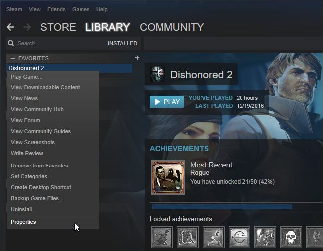 déplacez les fichiers du jeu vers l'autre bibliothèque